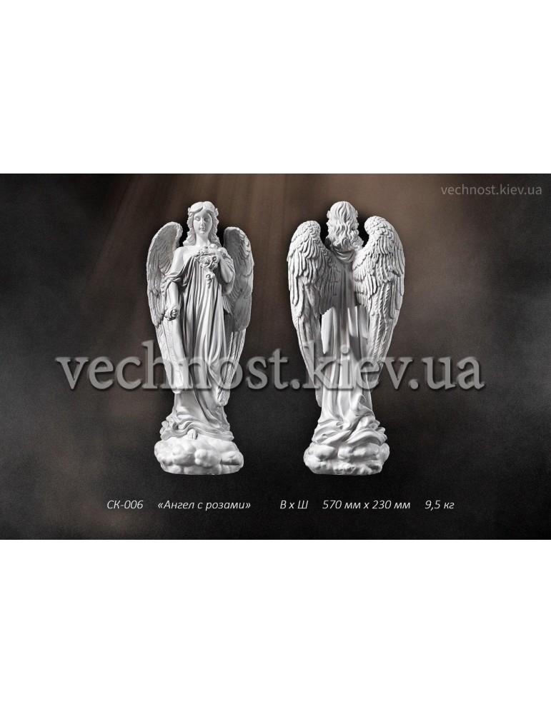 Скульптура Ангел с розами