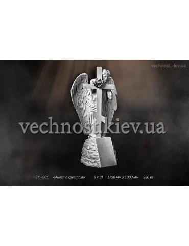 Скульптура Ангел с крестом