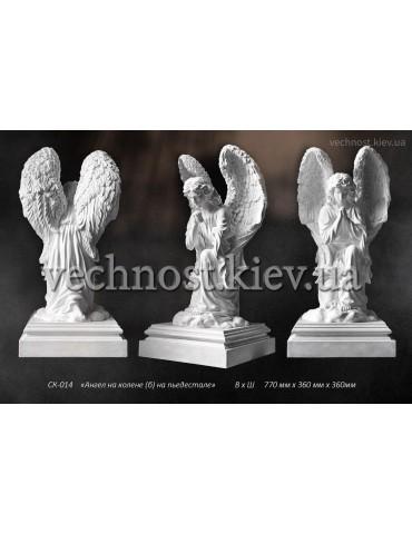 Скульптура Ангел на колене на пьедестале
