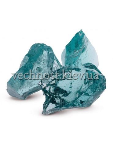 Стеклянные камни для декора голубой AZZURO