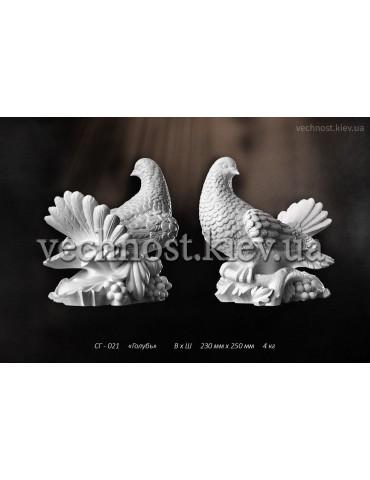 Скульптура Голубь со сложенными крыльями