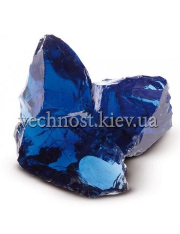 Стеклянные камни для декора синий BLU Cobalt