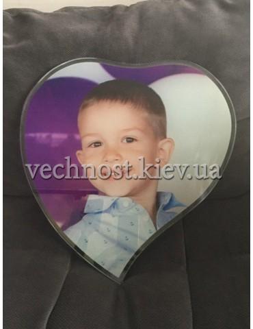 Фотостекло в форме сердца №3