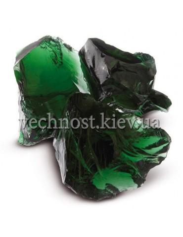 Стеклянные камни для декора зеленый VERDE