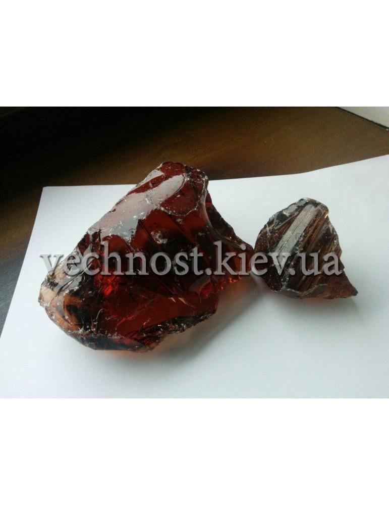 Стеклянные камни для декора коричневый AMBRA